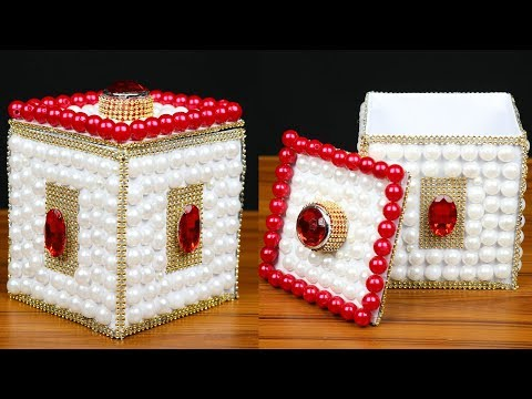 How to make a jewellery box out of cardboard | Jewellery Box Making | Best out of waste