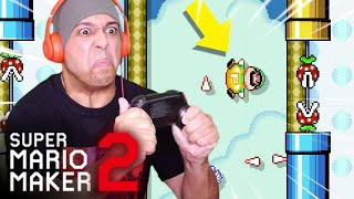 BREAKING MY CONTROLLER IN HALF!! [SUPER MARIO MAKER 2] [#58]