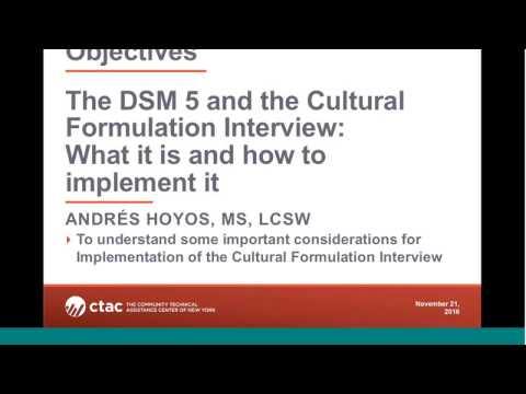 The DSM 5 and the Cultural Formulation Interview (English)