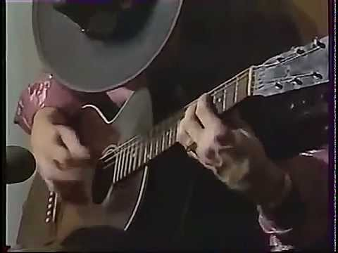 Stevie Ray Vaughan Acoustic Guitar Solo- RARE Video Footage