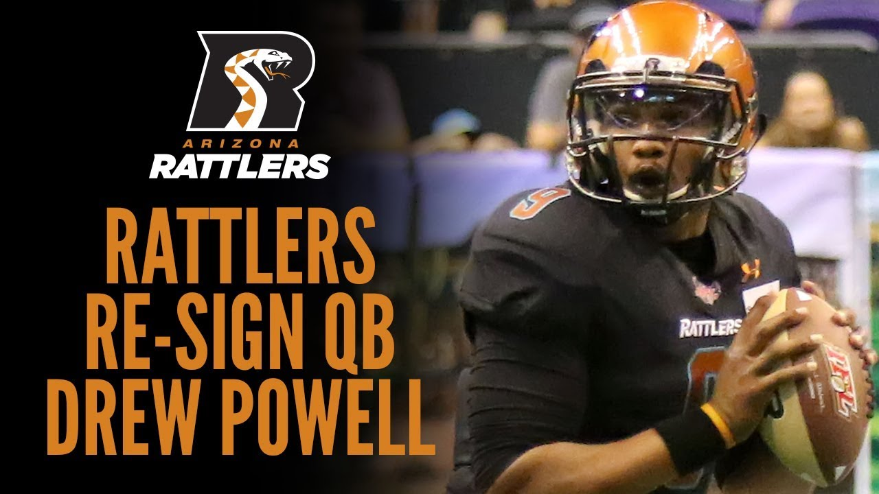 Rattlers Re-Sign QB Drew Powell - YouTube