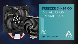 ARCTIC Freezer 34 and Freezer 34 CO - Installation on AMD AM4