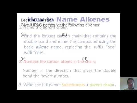 Chapter 3 – Alkenes: Part 1 of 4