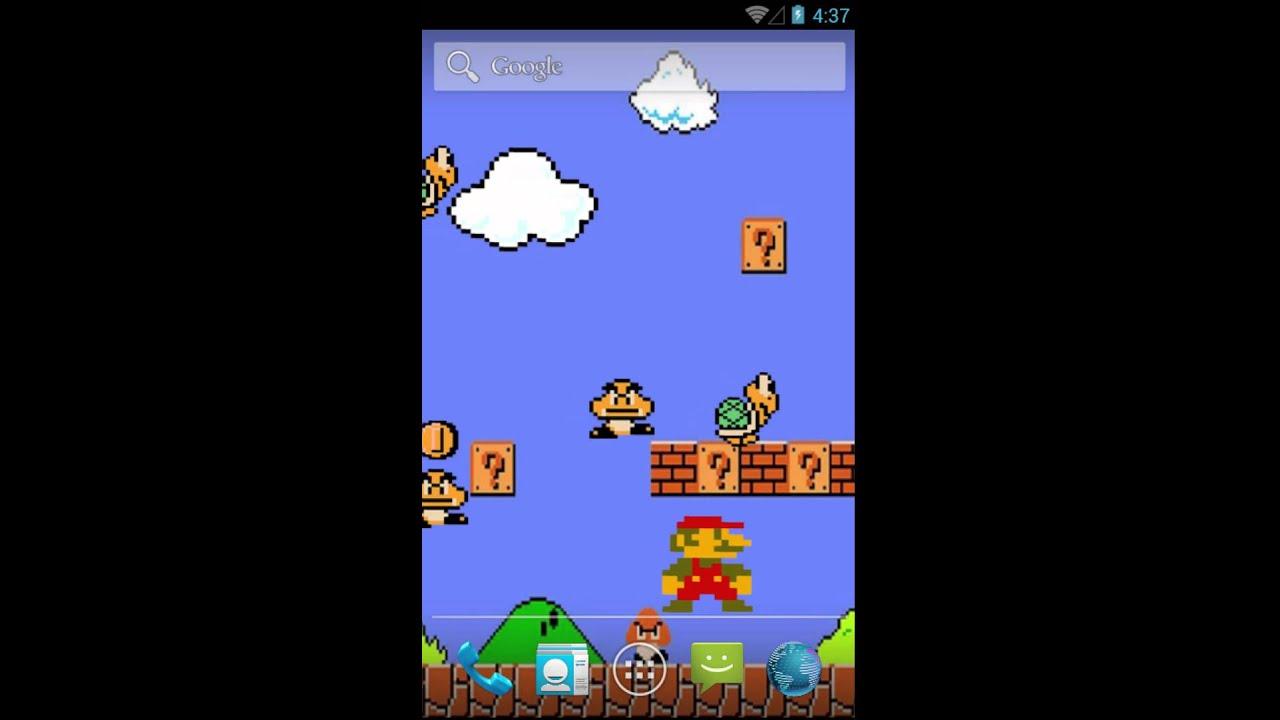 Super Mario Bros Live Wallpaper - YouTube
