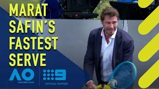 Marat Safin's fastest serve attempt - Australian Open | Wide World of Sports