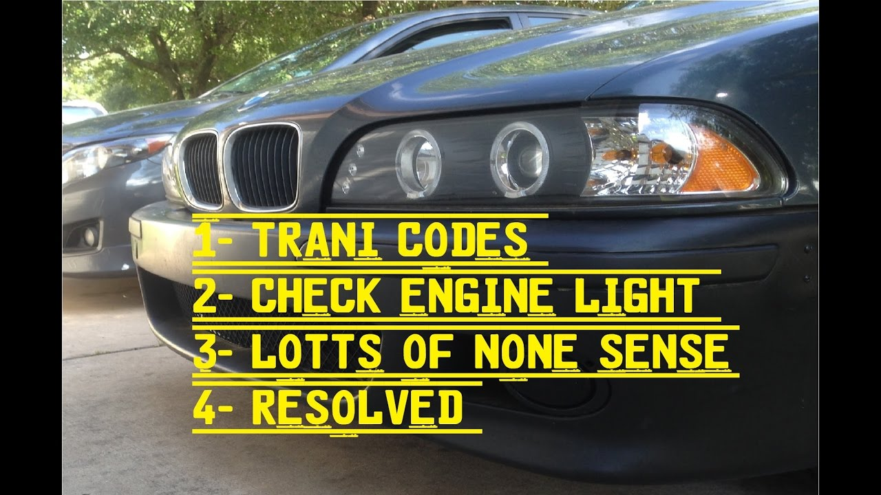 bmw   check engine light   codes  fix youtube