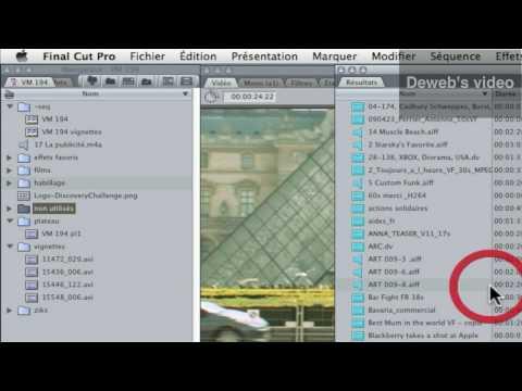 Final Cut : optimiser l'espace disque en fin de rpojet