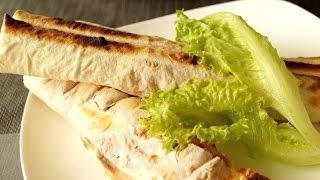 Домашняя Шаурма в лаваше с сосиской.Homemade Shawarma in pita bread with sausage