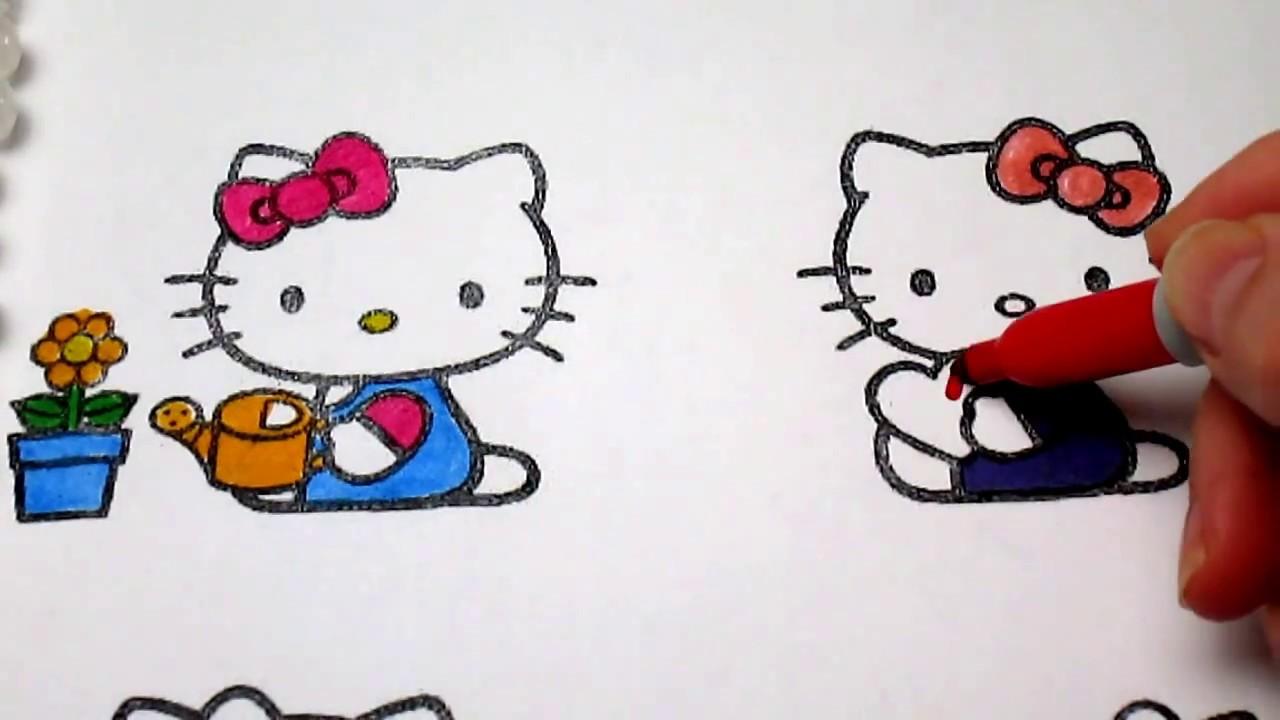 Hello Kitty Coloring Pages Kinder Fun хелло китти раскраска онлайн киндер фан