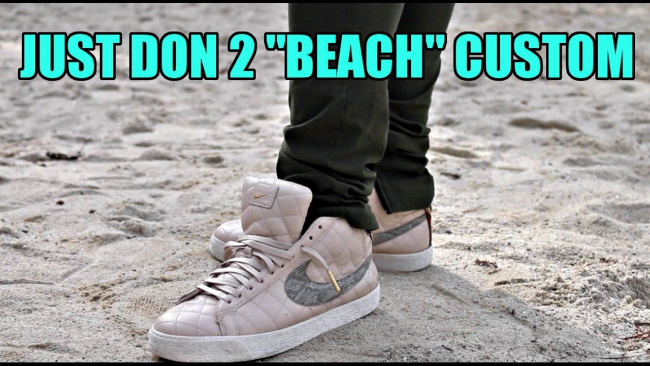 d2b323c08 CUSTOM NIKE SB SUPREME BLAZER!! - YouTube