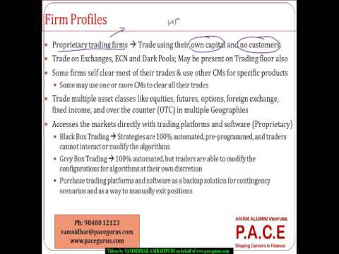 How do Proprietary Trading firms control the risks of high speed trading