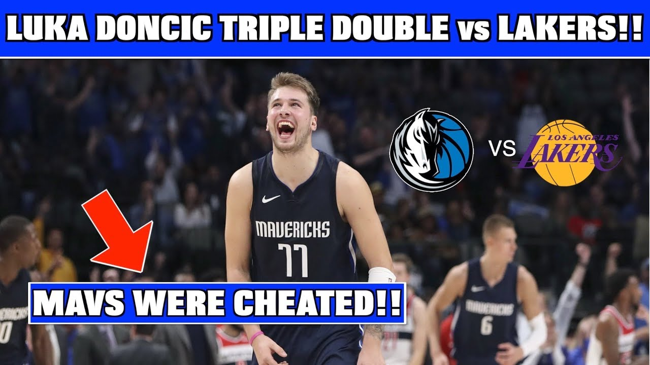 Luka Doncic Gets 10th Triple Double Mavs Vs Lakers Luka Doncic Head Injury