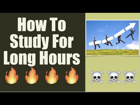 How To Study For Long Hours   How To Be Super Productive 🔥🔥🔥🔥