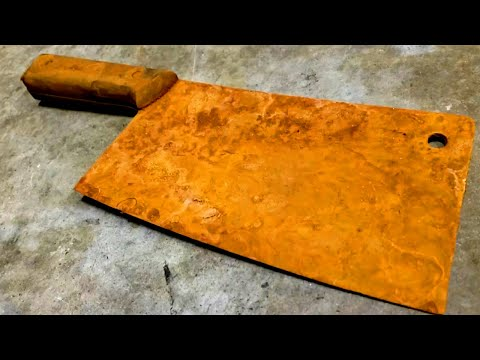 Antique Rusty Meat Cleaver Restoration