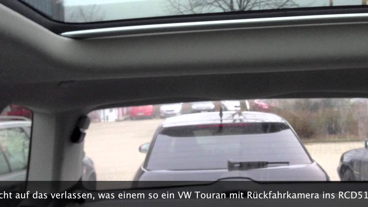 vw touran r ckfahrkamera mit eigenleben youtube. Black Bedroom Furniture Sets. Home Design Ideas