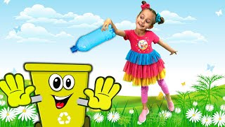 Waste sorting | Clean Up Trash Song - Educational Songs for Kids