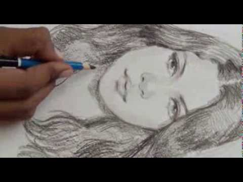 my-realistic-face-portrait:how-to-draw-female-face-pencil-sketching-shades