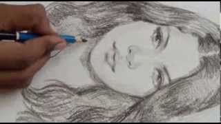My Realistic Face Portrait:how To Draw Female Face Pencil Sketching Shades