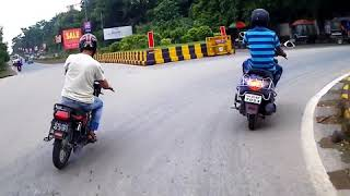 YAMAHA RX135 VS SUZUKI SHOGUN   PART 1 ( INDIAN STREET RACE ) - JAMSHEDPUR