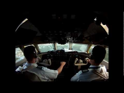 Lockheed Jetstar II Take Off and Landing Cockpit View [HD]