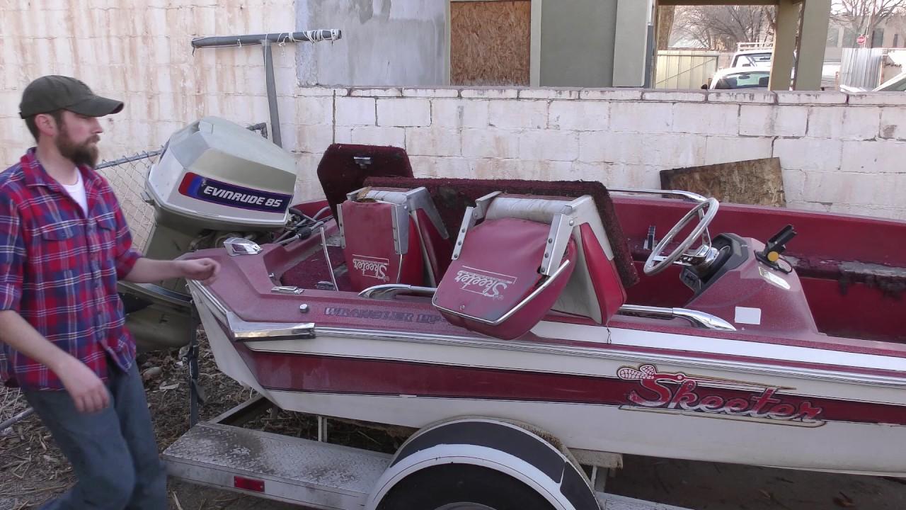 Skeeter Bass Boat Restoration #1 - YouTube