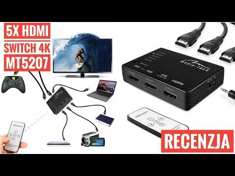 SWITCH HDMI 4K Z PILOTEM MT5207 Media-Tech RECENZJA TEST | ForumWiedzy