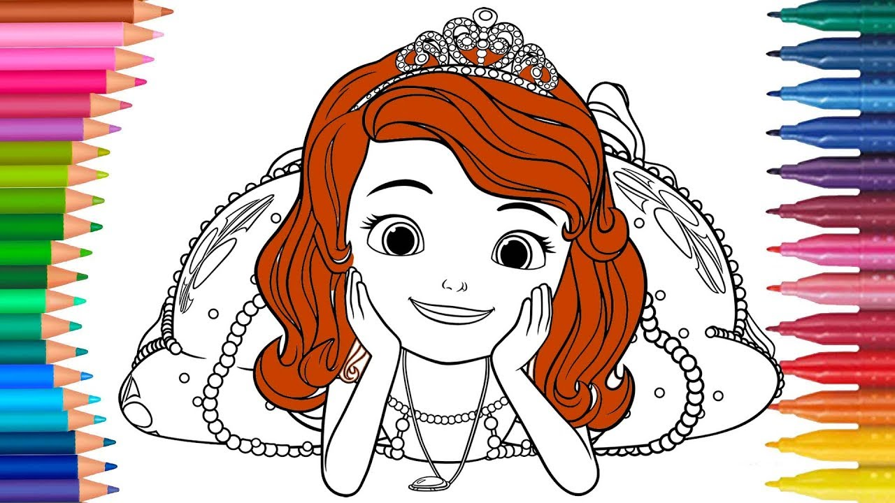 Putri Sofia Permainan Mewarnai Buku Mewarnai Tangan Kecil Youtube