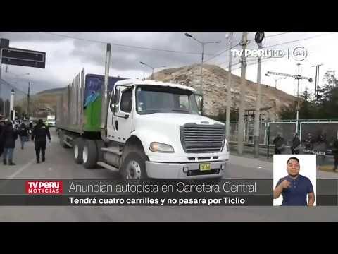 Junín: anuncian construcción de autopista paralela a Carretera Central