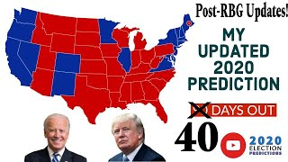 Presidential Election Prediction! (Post-RBG's passing and 40 DAYS AWAY)