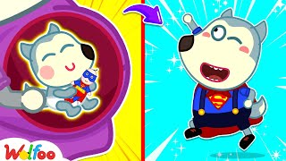 Wolfoo Wants to Become Superhero Since Childhood - Kids Stories About Baby Wolfoo   Wolfoo Channel