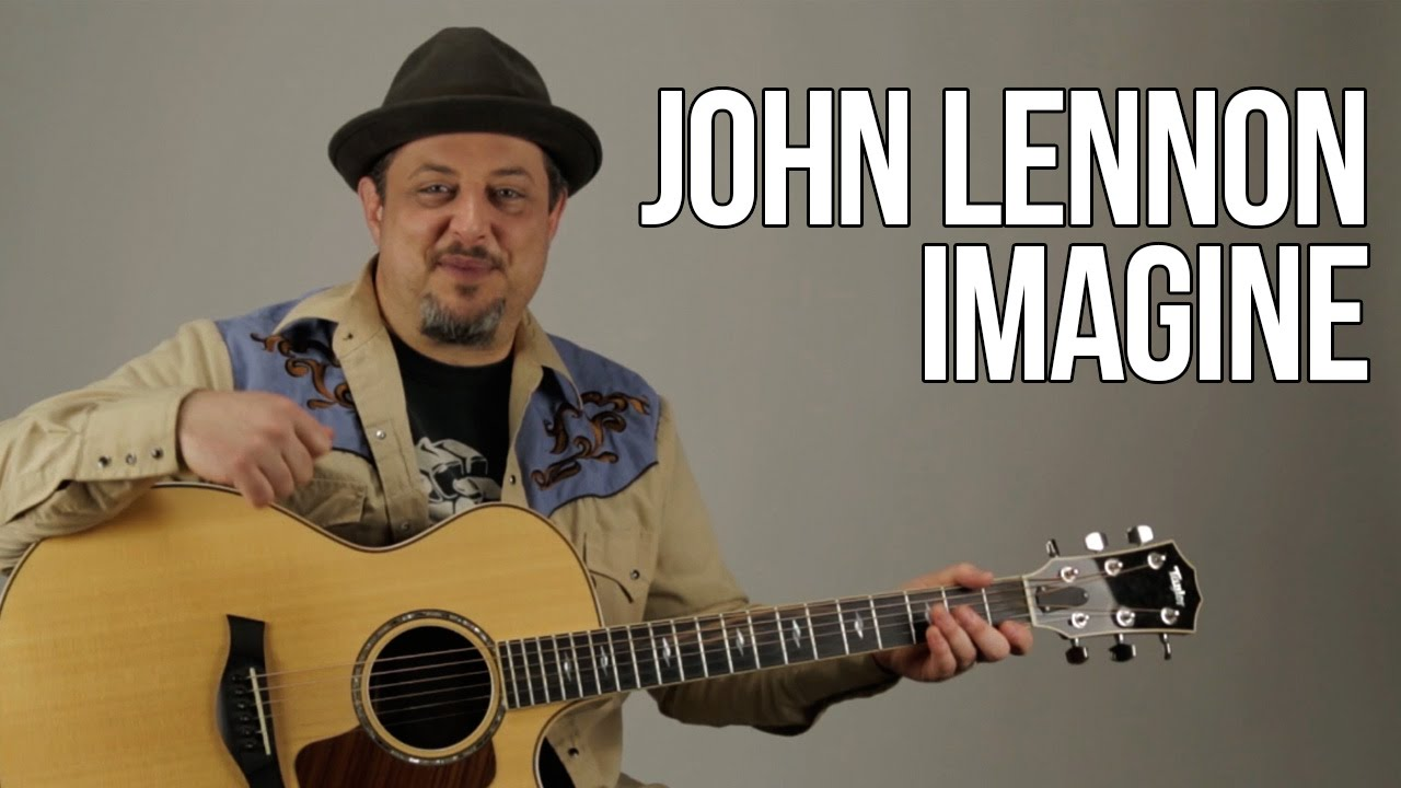 how to play imagine by john lennon on guitar acoustic guitar lesson youtube. Black Bedroom Furniture Sets. Home Design Ideas