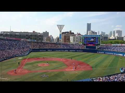 "2017.6.17 Yokohama DeNA BayStars (vs Bs) Introducing ""筒香嘉智"" and his Double ""二塁打"""