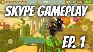Pixel Gun 3D - YouTube Trio Skype Gameplay [Ep. 1]