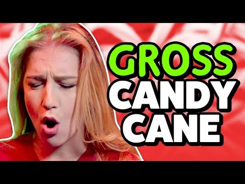 GROSS CANDY CANE TASTE TEST