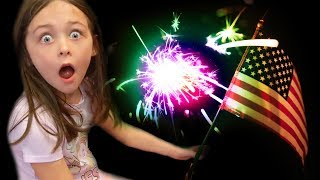 Playing with Fireworks for Kids Family Fun Kid 4th of July Party Kinder Playtime
