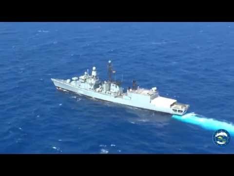 The German Frigate FGS KARLSRU...