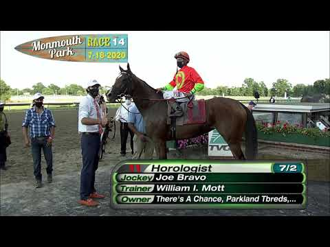 video thumbnail for MONMOUTH PARK 07-18-20 RACE 14 – THE MOLLY PITCHER STAKES