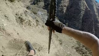 Caught on GoPro, Falling in a Dirt and Rock Slide. OUCH!