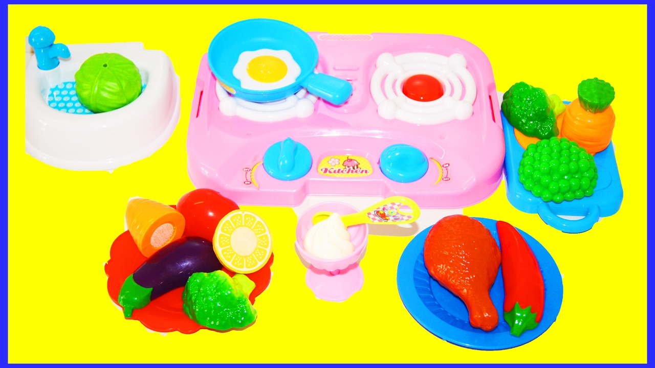 Kids Kitchen Set With Velcro