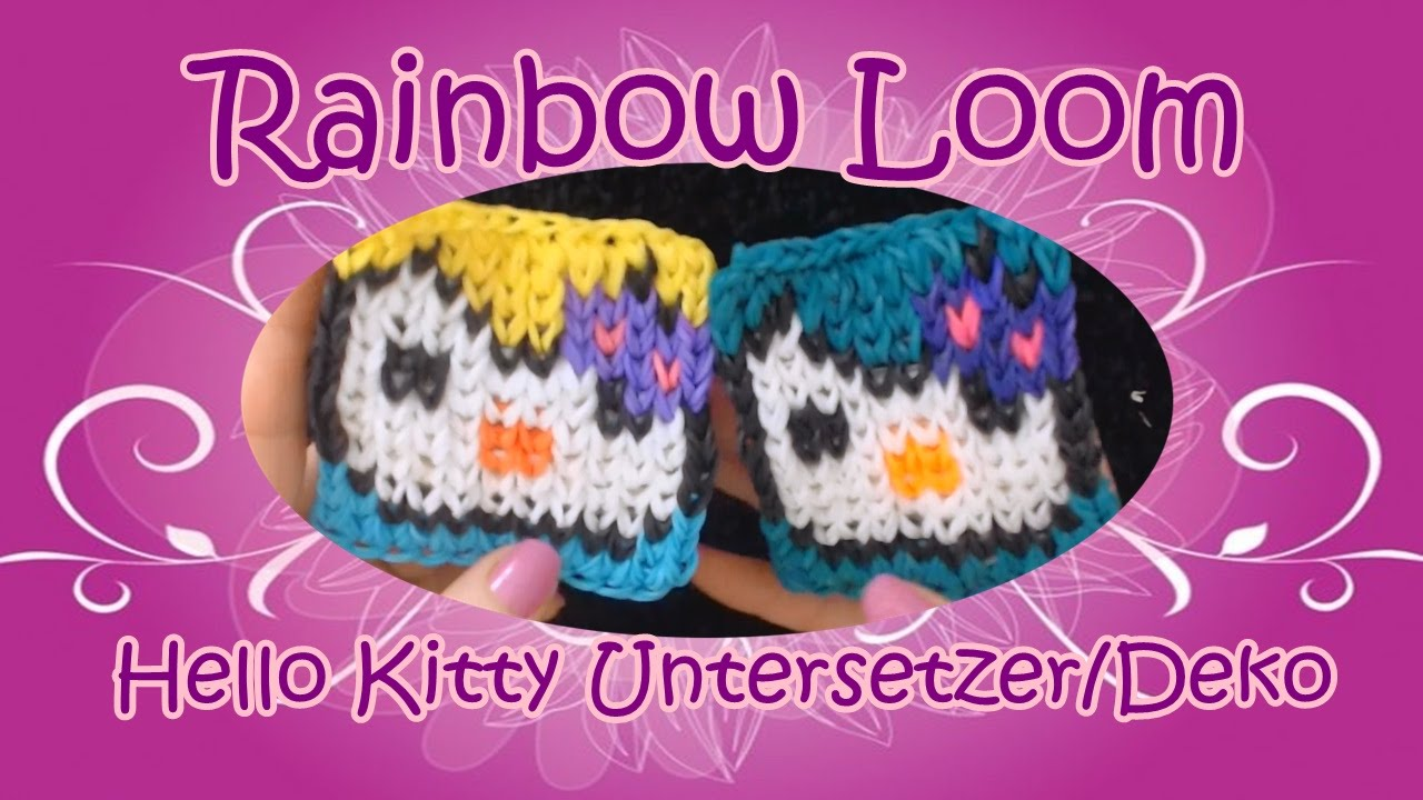 Hello Kitty Untersetzer Dekopad Rainbow Loom Loom Bands