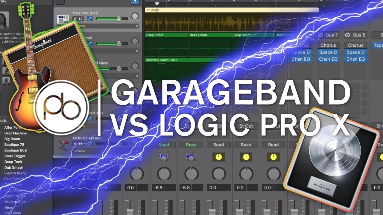 Garageband vs Logic Pro X: What's the Difference?