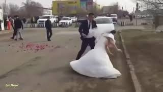 Bride Changes Her Mind And Runs Out Of Her Wedding after slapping his husband on street