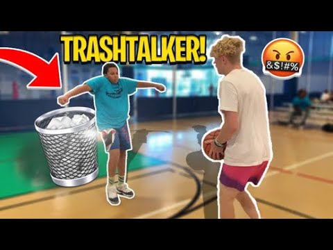 Trash Talking Kid Gets EXPOSED! 1V1 BASKETBALL!