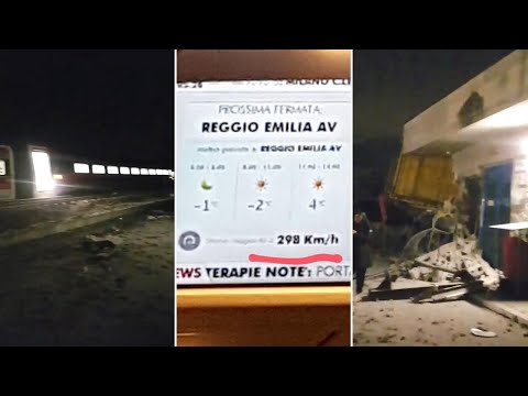 Le prime immagini girate da un passeggero dopo l'incidente: il treno viaggiava a 298 km/h