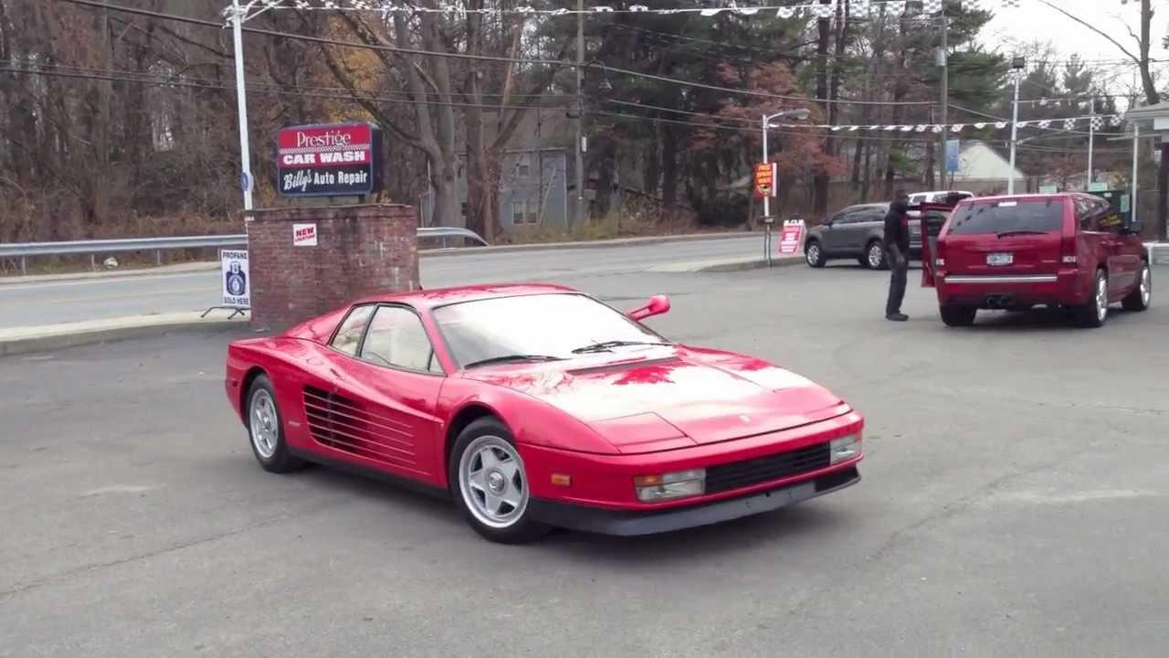 88 Ferrari Testarossa Cold Start For Sale Youtube