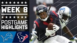 Lions vs. Texans | NFL Week 8 Game Highlights