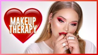 makeup therapy red for my little brother  nikkietutorials
