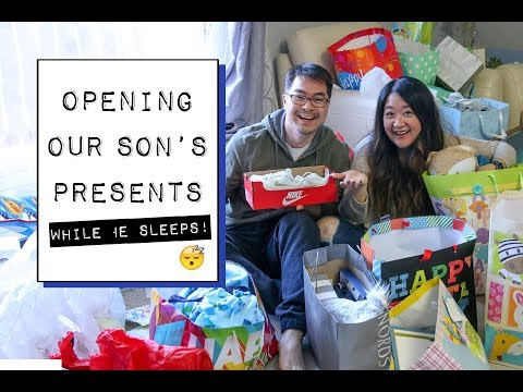 Great Gift Ideas For A One Year Old! | Unboxing Our Kid's Presents While He Naps