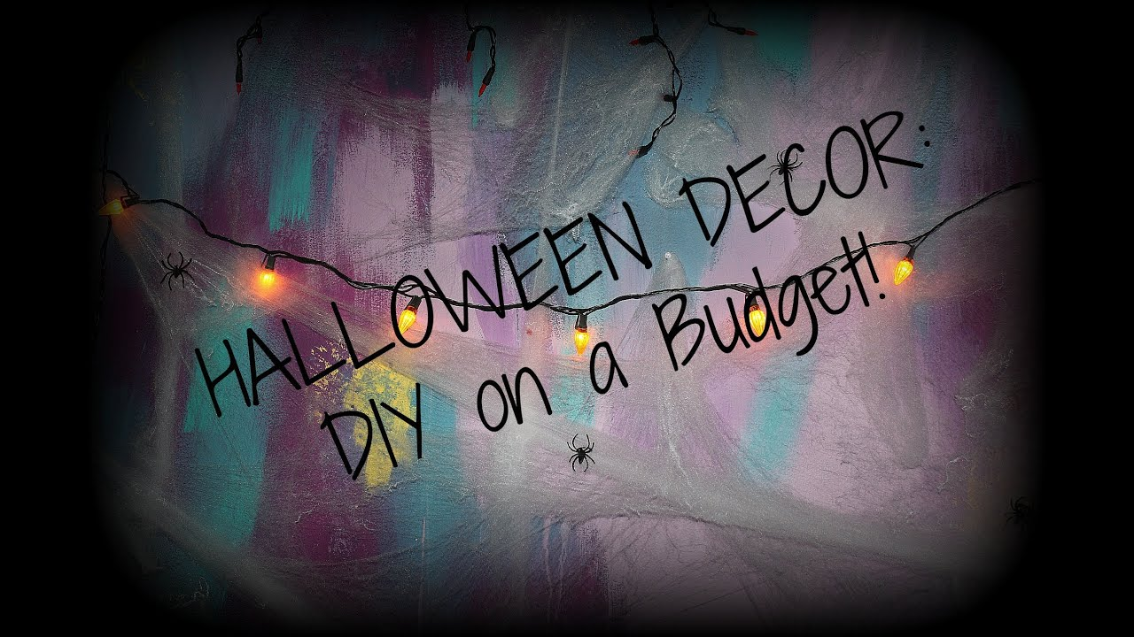 halloween decor diy on a budget youtube. Black Bedroom Furniture Sets. Home Design Ideas