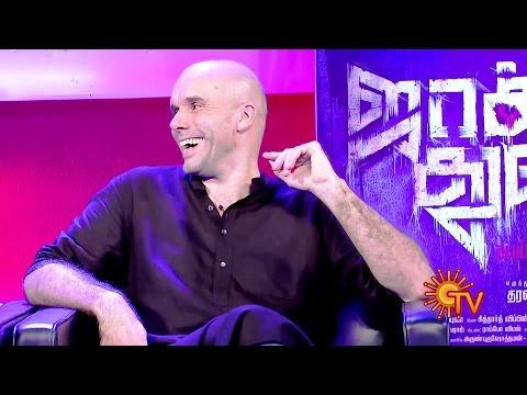 'Jackson Durai' Interview on Sun TV - with Sathyaraj, Sibiraj, Dharanidharan & Zachary Coffin